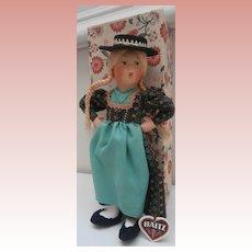 Austrian  Baitz Doll ' Salzburg' Originakl Box and Label