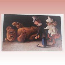 Early Postcard 'Oilette' The Teddy Bear Series 1910