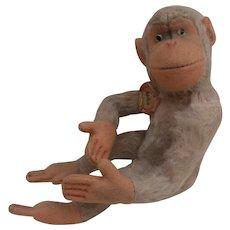 Vintage Steiff Jocko Monkey,Steiff Chest Tag
