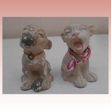 Two Vintage  Little Bonzo Ornaments A/F