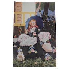 Rare Lenci Lady Boudoir Doll Postcard 1930's
