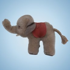 Small Steiff Elephant, Steiff Elephant Saddle