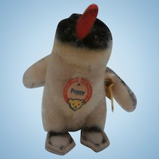 Steiff Smallest Size Peggy Penguin, 1959 to 1967, Steiff Button and Chest Tag