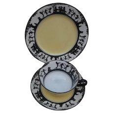 Fabulous Art Deco Fairy Ring Design, Cup, Saucer, Plate, Atlas, Grimwades