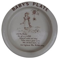 Early  Little Miss Muffet Baby Plate A/F