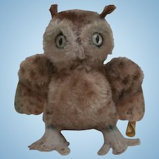 Steiff Smallest Size Wittie Owl, Steiff Button