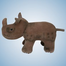 Steiff Nosy Rhinoceros, Steiff Chest Tag,