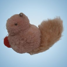 Steiff Woolen Miniature Squirrel, Steiff Button