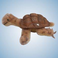 Steiff Slo, Tortoise / Turtle. Steiff Button