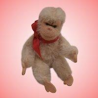 Steiff Miniature White Jocko Chimpanzee / Monkey,  Steiff Button
