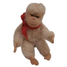 Steiff Miniature White Jocko Chimpanzee / Monkey,  Steiff Button
