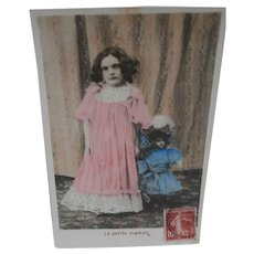 French Postcard 1907, French Doll