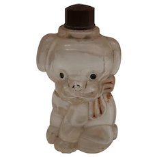Vintage Dog Perfume Bottle