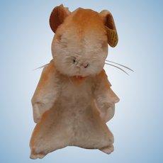 Steiff Goldy  Hamster, Steiff Button