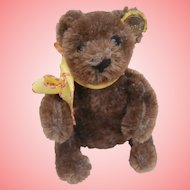 Buster Steiff Brown Flexible Teddy Bear, Button, A/F