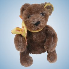 Buster Steiff Brown Flexible Teddy Bear, Button, A/F
