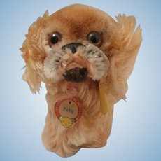 Steiff Peky Pekingese Dog, 1965 to 1967, Steiff Chest Label, Button