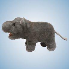 Steiff Mockie  Hippopotamus, 1959 to 1963, No Id's