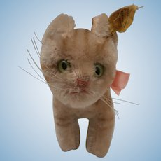 Steiff Pussy Cat Tapsy, Steiff Button