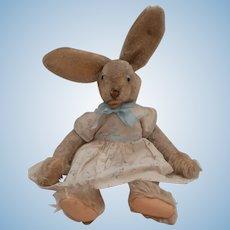 Steiff Lulac Bunny Rabbit, Steiff Button, 1959 to 1964
