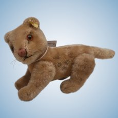 Steiff Young Lion, Steiff Button