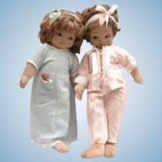 Maisy and Daisy, Pair Chad Valley Mabel Lucy Atwell Dolls A/F
