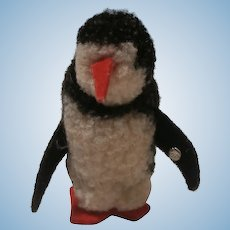Steiff Wool Penguin , Steiff Button.