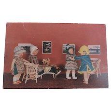 Early Kathe Kruse Dolls Postcard, 1928