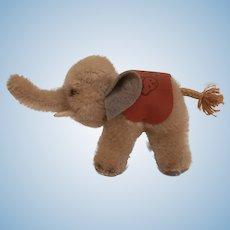 Small Steiff Elephant, Steiff Elephant Saddle