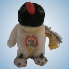 Steiff Peggy Penguin, Steiff Button and Tag