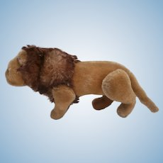 Steiff Papa Lion , Fully Jointed.1951 to 1959, Steiff Button