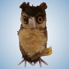 Steiff Woolen Owl, Steiff Button