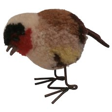 Steiff Woolen Finch Bird, No Id's