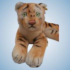 Steiff Tiger Cub, Lying Down, Steiff Button