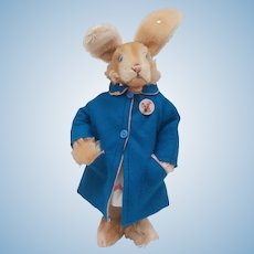 Wonderful Steiff Lulac Bunny Rabbit, Steiff Button