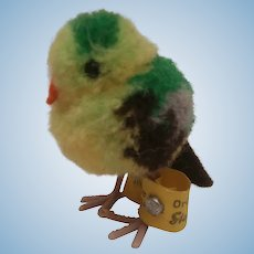 Steiff Wool Bird , Steiff Button
