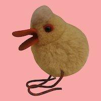 Steiff Woolen Pompom Duck, 1949 to 1964, No Id's