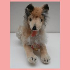 Steiff Collie Dog, Chest Tag 1966 to 1969