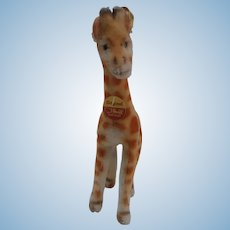 Lovely Steiff Giraffe 1968 to 1974, Steiff Button and Tags