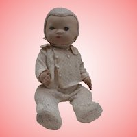 Brian Rare Deans A1 Cloth Baby Doll, Glass Eyes, Button Identification