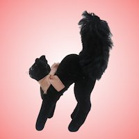 Smallest Size Steiff Tom Cat, Lucky Black Cat , Chest Tag