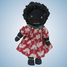Tiny Vintage  Golly Girl Cloth Doll