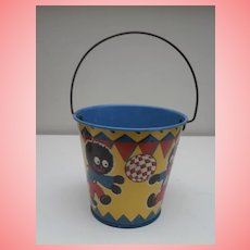 Vintage 'Happynak' Golly  Doll Sand Pail Bucket