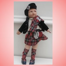 Norah Wellings Scottish  Girl Doll , Novelty Range