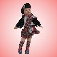 Norah Wellings Scottish  Girl Doll , Novelty Range