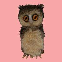 Steiff Woolen Pompom Owl, 1971 to 1984, Steiff Button