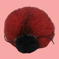 Steiff Woolen Pompom Ladybird, 1959 to 1964, No Id's