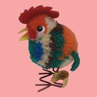 Steiff  Miniature Woolen Pompom Rooster, 1968 to 1972, Steiff Button