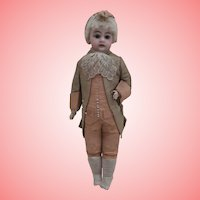 Early Fashion Doll , Face, Wig and Body, Badly Damaged