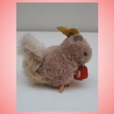 Steiff Wool Squirrel with Ball, Steiff Button